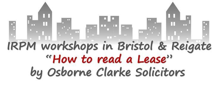 #Book #now @OsborneClarke in #Bristol & #Reigate, @BradySolicitors in #Manchester & #Cambridge http://buff.ly/2b1pzAt  #IRPM #IrpmMan16 #IrpmCam16 #IrpmBri16 #IrpmRei16 #lease #property #training #learning