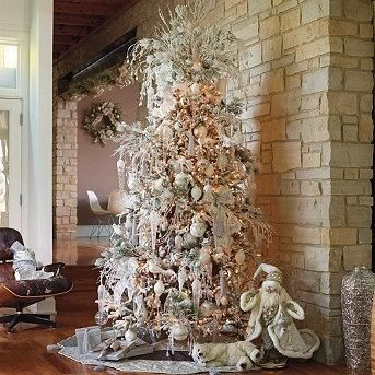 Christmas Tree Decorating Ideas - White and Silver