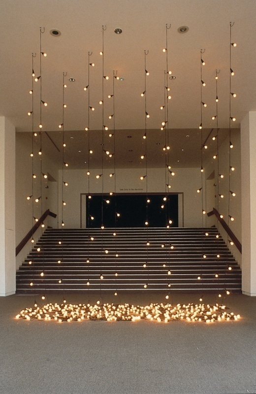 Felix Gonzalez-Torres,Untitled (America), 199495 (installation view,Felix Gonzalez-Torres (Girlfriend in a Coma), Muse dArt Moderne de la Ville de Paris, 1996). The Felix Gonzalez-Torres Foundation. Photograph by Marc Domage