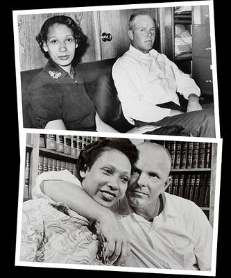 Mildred and Richard Loving.  They fought their criminal convictions for entering into an interracial marriage all the way to the U.S. Supreme Court.  In Loving v. Virginia, the court declared it unconstitutional for a state to limit a citizen's right to marry based on race.