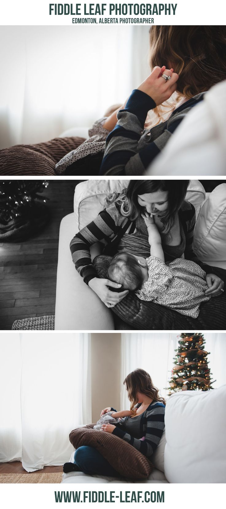 Beautiful breastfeeding photography. Edmonton photographer. Fiddle Leaf Photography
