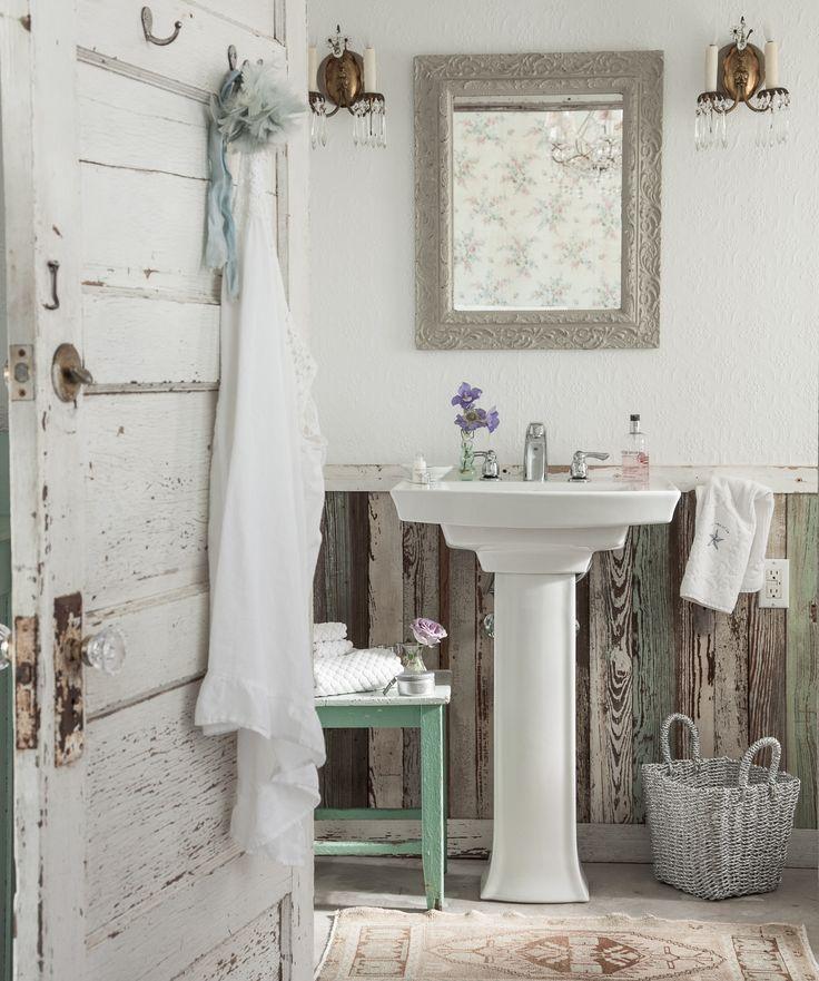 Chic Bathrooms Vintage Bathrooms Bathroom Designs Bathroom Ideas Cabin Fever Cottage Chic Tub Tiny House Vanity