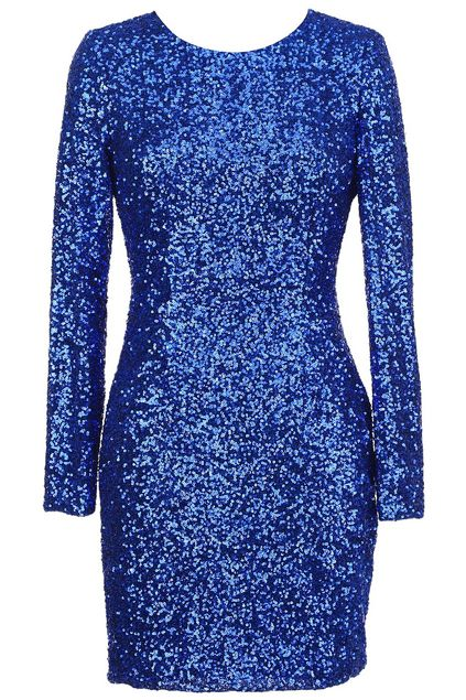 #Romwe ROMWE | Back Hollow Blue Sequin Dress, The Latest Street Fashion