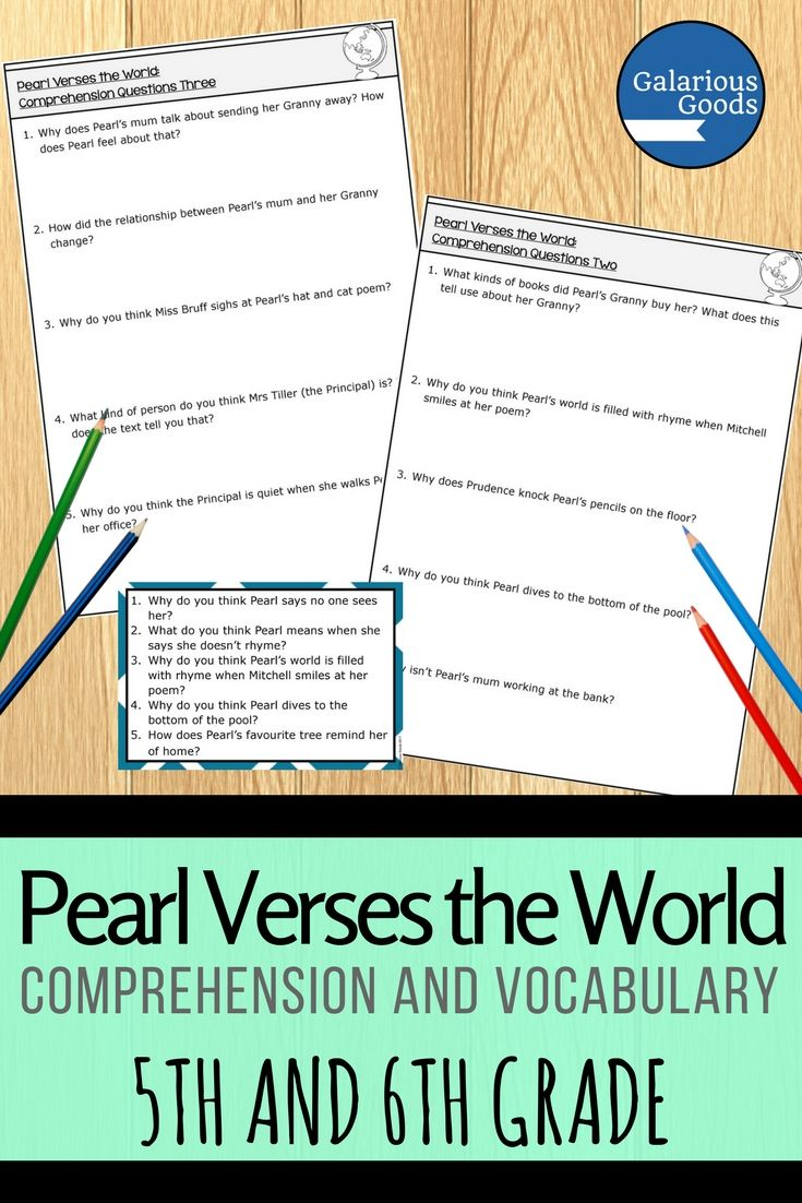 Explore the ideas, events and themes of Pearl Verses the World by Sally Murphy with your Year 5 and Year 6 students. Engage with comprehension questions for this verse novel, arranged in different ways to allow for classroom flexibility. Includes a presentation file for paperless classrooms #galariousgoods