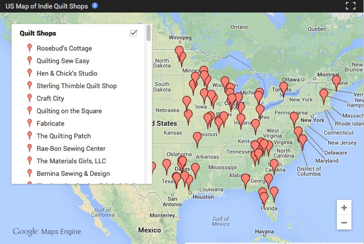 Find the Best Local Quilt Shops Near You: The Craftsy Quilt Shop Map