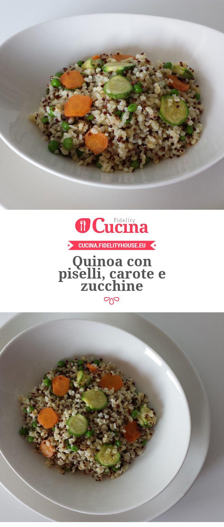 Quinoa con piselli, carote e zucchine
