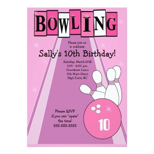 Best Bowling Birthday Party Invitations Images On