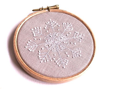 snowflake embroidery and cross-stitch patterns (via poppytalk)