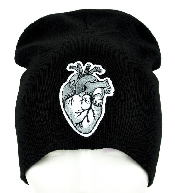 Anatomical Human Heart Beanie Occult Clothing Knit Cap  #tradgoth #rivethead #rockabilly #gothrock #alternativegirl #alternativefashion #vampire #punkgirl #occult #kpop