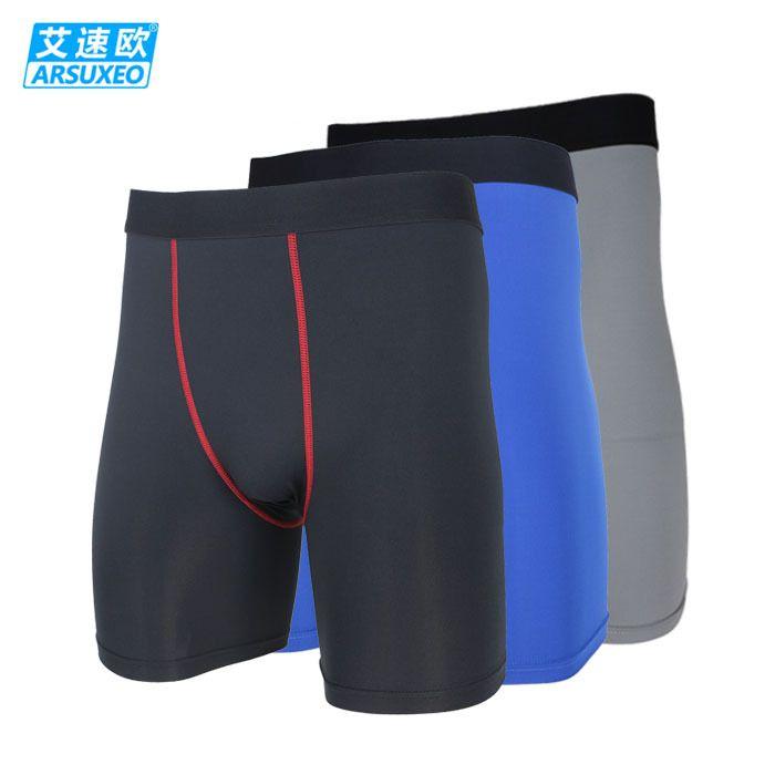 2015 ARSUXEO мужская компрессионные чулки и колготки базовый слой нижнее белье запуск тренировки шорты запуск box футбол футбол баскетбол ДК-1