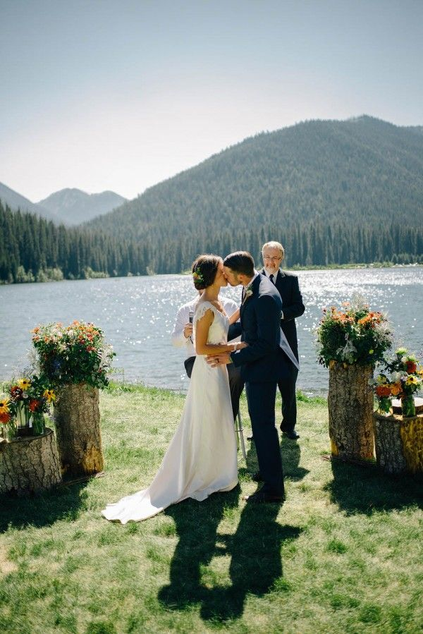 Wildflower Wedding at Manning Park   Photo by Mathias Fast