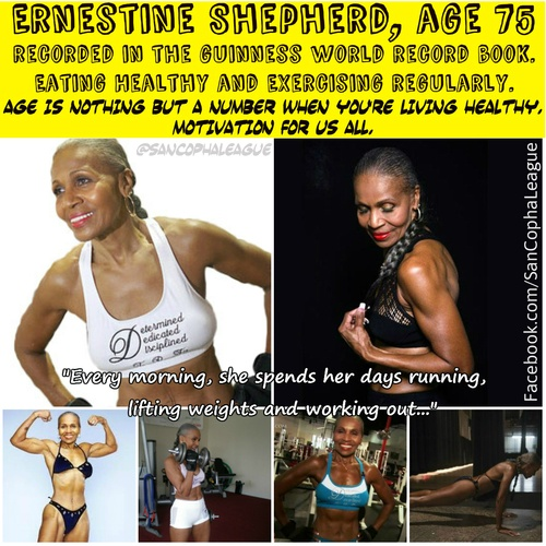 Ernestine Shepherd Workout Routine   sancopha league exercise workout diet fitness living healthy guinness ...