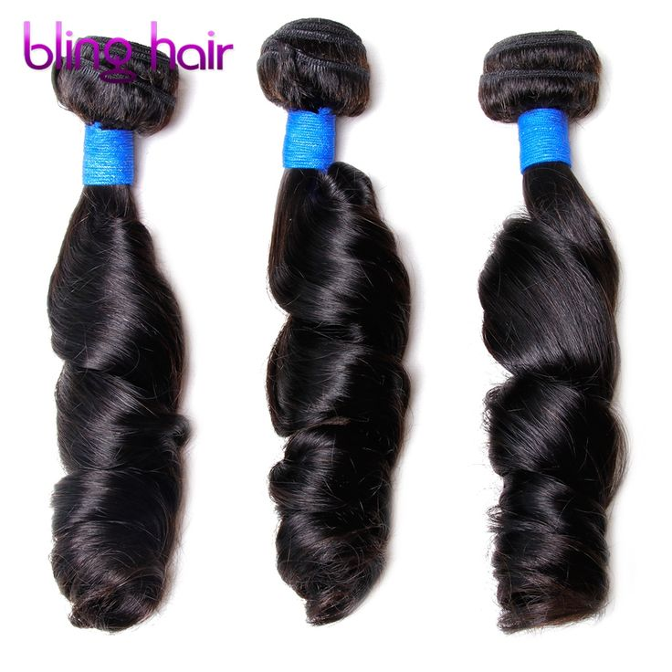 Bling Hair Brazilian Loose Wave 3 Bundles Nature Black Remy Human Hair For Salon Hair Extention Low Ratio Longest Hair PCT 15%