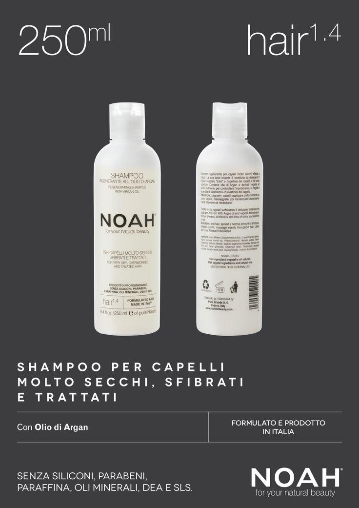 NOAH Shampoo per #capelli molto secchi, sfibrati e trattati. Senza siliconi, parabeni, paraffina, oli minerali, DEA e SLS. €.5.95
