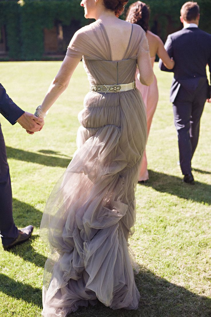 107 best images about perfect attendants on pinterest for Vera wang gray wedding dress