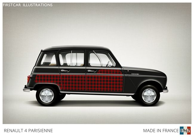 1967 - RENAULT 4 PARISIENNE Created in the 60s in partnership with ELLE magazine…