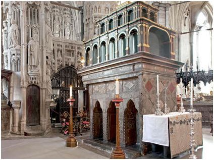 The tomb and shrine of Saint Edward the Confessor, Westminster Abbey ...