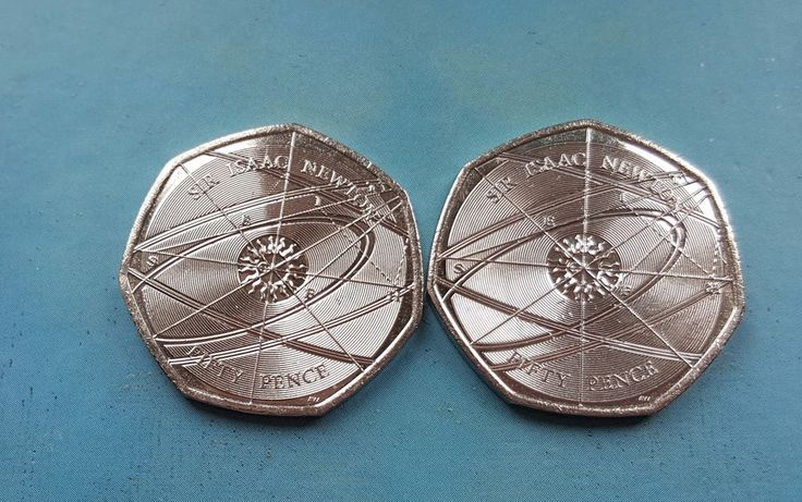 50p Sir Issac Newton Fifty Pence Piece 2017 x 2 Coins £5 Or Best Offer Ebay Uk Item Number 263252686417