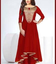 Buy New Fancy Red Designer Kurti kurtas-and-kurti online