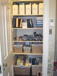 organized office closet. Delighful Closet Organized Office Closet Closet Organization Throughout
