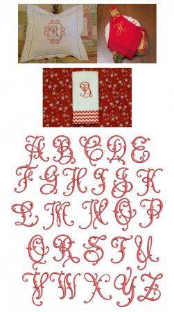 Flourish Fancy Monogram Alphabet