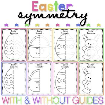 This Easter themed Symmetry worksheets include:  2 x Easter Basket Symmetry Worksheets (with and without guides) 2 x Easter Egg Symmetry Worksheets (with and without guides) 2 x Easter Egg 2 Symmetry Worksheets (with and without guides) 2 x Easter Bunny Symmetry Worksheets (with and without guides) High quality PDF format.Terms of Use (TOU)All free and paid graphics may be used for personal and/or commercial use, such as:Classroom Printables, Party Printables; Cards and Invitations…