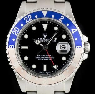 Rolex GMT-Master II Pepsi Bezel Gents Stainless Steel Black Dial B&P 16710