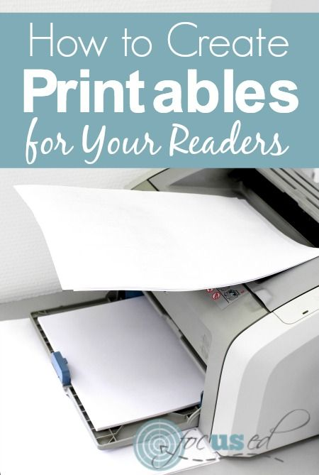How to Create Printables for Your Readers | www.focusedbloggingconference.com