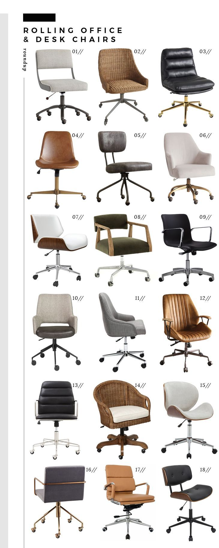 Photo of Roundup : Rolling Office & Desk Chairs – Office Chair – Ideas of Office Chair #O…