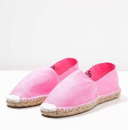 Oas Espadryle różowe płaskie pink