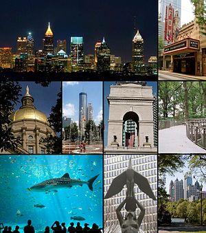 My hometown - Atlanta, GA.  Love to go visit, but I don't miss the traffic.  Still I love the energy of big cities.      http://upload.wikimedia.org/wikipedia/commons/thumb/5/5f/Atlanta_Montage_2.jpg/300px-Atlanta_Montage_2.jpg