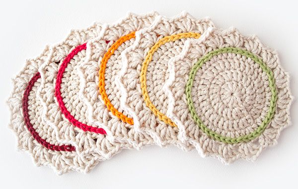 21 Cute and Quick Crochet Projects featured by top US crochet blog, Flamingo Toes: Make a Set of Five Ombre Crocheted Coasters - Tuts+ Crafts & DIY Tutorial