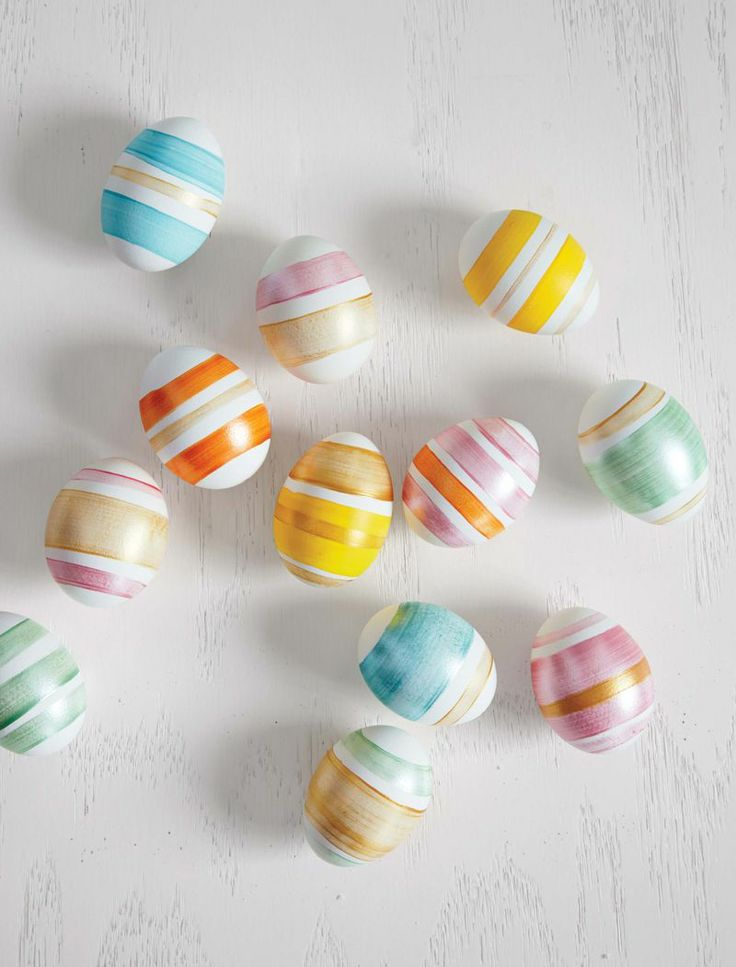 We love these striped Easter eggs