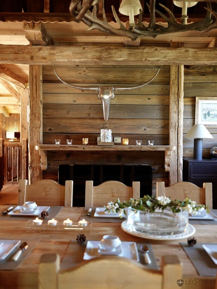 259 best images about chalets and mountain homes interiors on pinterest - Decoration style chalet ...