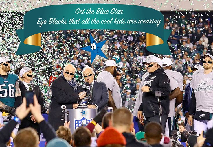 Go @philadelphiaeagles . Show your support for the birds with @thinkbluestar underdog Eye Blacks exclusively from BlueStar. Wear em Share em and support the next Super Bowl champions !!! . To get your pack or packs or bulk packs !! Contact BlueStar at 215-886-4002 #eagles #americasteam #philadelphiaeagles #eyeblacks  #goeagles #football #nfl #nickfoles @halsheppard @chickiesnpetes #philadelphiapride