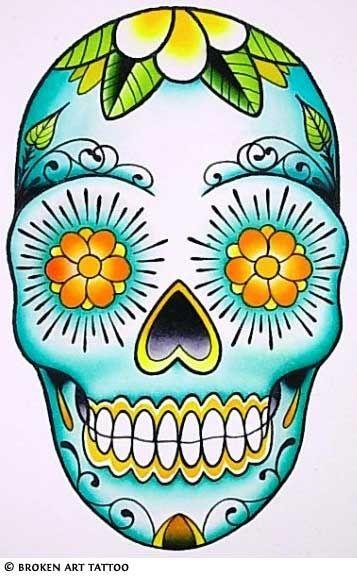 sugar skullTattoo Ideas, Sugar Skull Art, Dia De Los Muertos Tattoo, Sugar Kull, Skull Design, Mexicans Skull, A Tattoo, Art Projects, Sugar Skull Tattoos