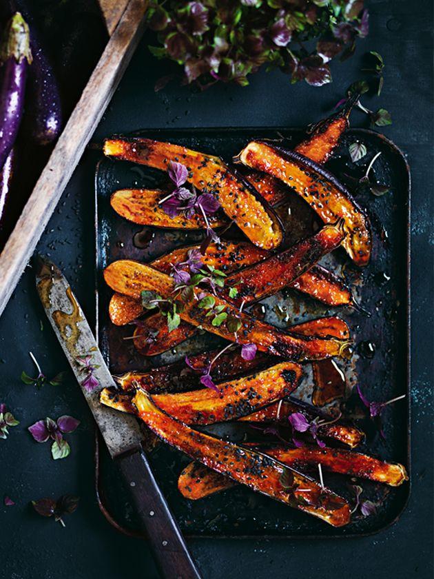Ginger Miso Glazed Eggplant   Donna Hay