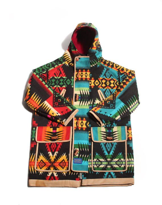 f24d02001 two all wool pendleton Eagle Rock pattern saddle blankets. same pattern