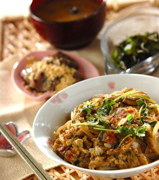 「ウナギの卵とじ丼」の献立・レシピ - 【E・レシピ】料理のプロが作る簡単レシピ/2015.04.05公開の献立です。