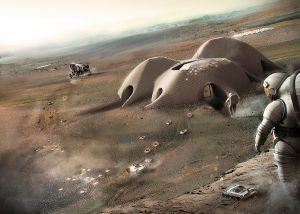 Beton pro stavby na Marsu