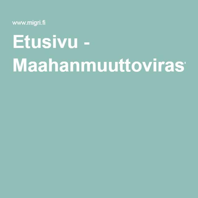 Etusivu - Maahanmuuttovirasto