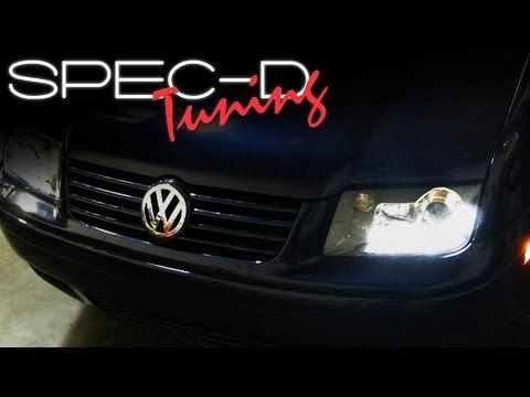 HID Xenon + 99-05 Volkswagen Golf / GTI MK4 Angel Eye Halo Projector Headlights - Gloss Black