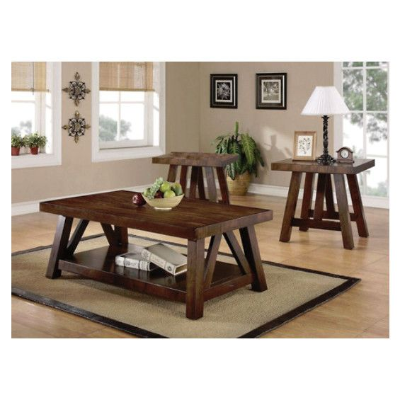 Image For Burnished Mango Occasional Table Package From SHOP.CA