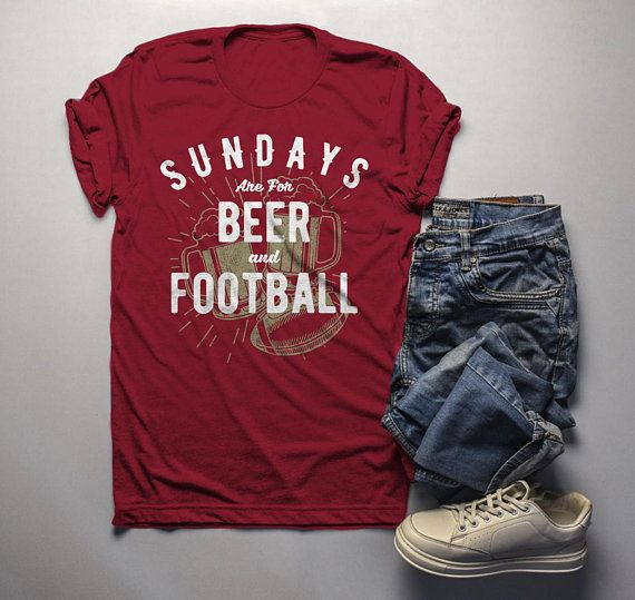 912654706c Men's Football T Shirt Sundays Are For Tshirt Football Beer Shirts ...