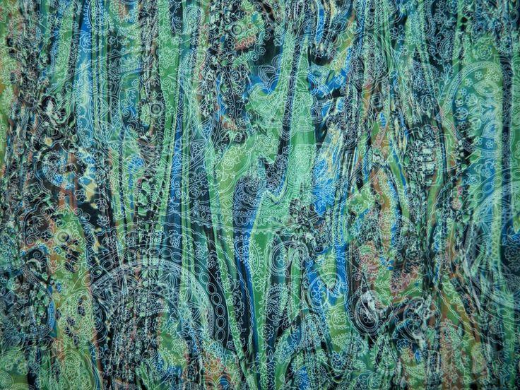 Stoff+im+Paisley+Muster+mit+Elasthan+von+LebensART+auf+DaWanda.com