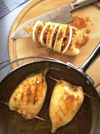 Кальмары, фаршированные овощами рецепт приготовления