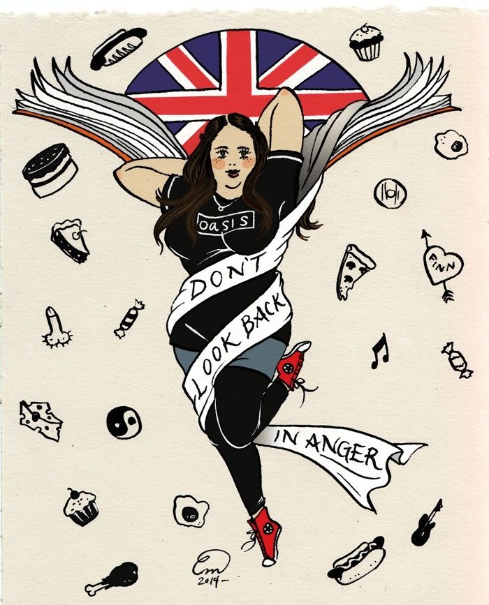 I love this 'My mad fat diary' fan art...