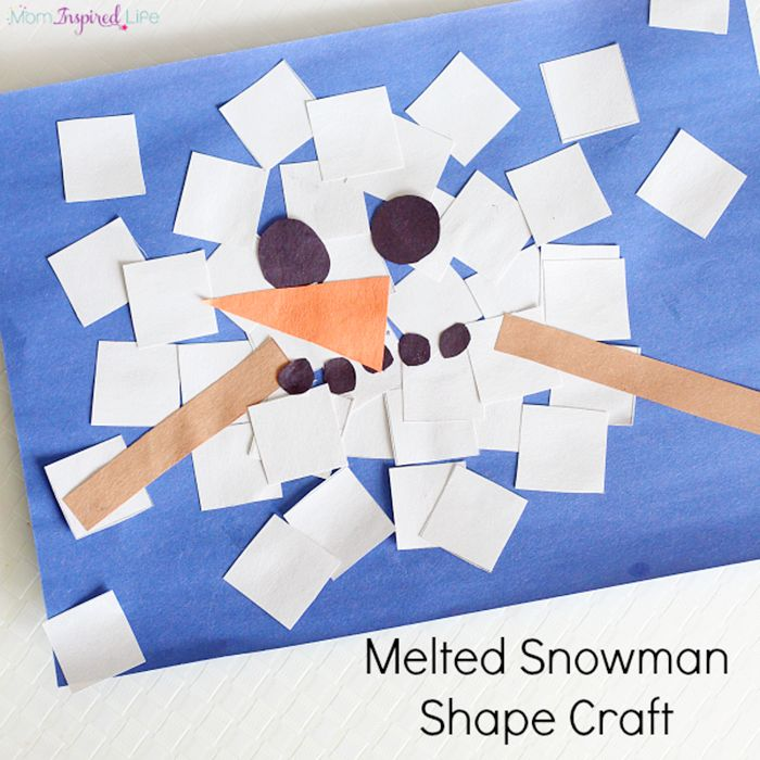 Sneezy the Snowman - Melted Snowman Shape Craft
