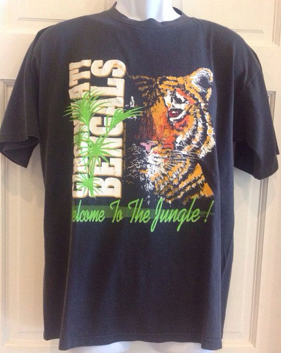 Rare vintage cincinnati bengals welcome to the jungle tee for Vintage bengals t shirts