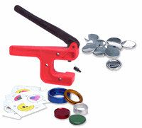 "Button-Maker: 1 1/4"" Starter Kit - Hand Press Button Maker/Button Machine!"